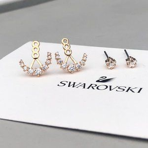 SWAROVSKI ATELIER MOONSUN stud earrings rose gold